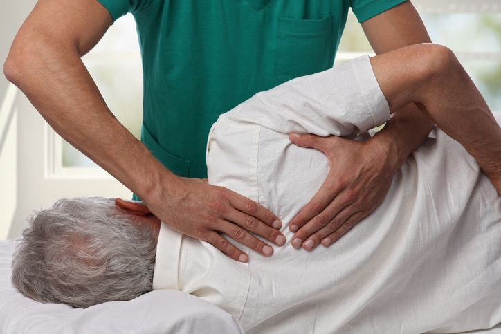 Back shoulder blade chiropractic adjustment