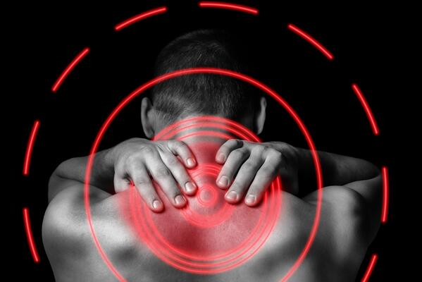 Upper Back Pain | Man Holding His Neck